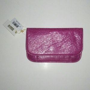 Aimee Kestenberg Samm flat pink leather wallet